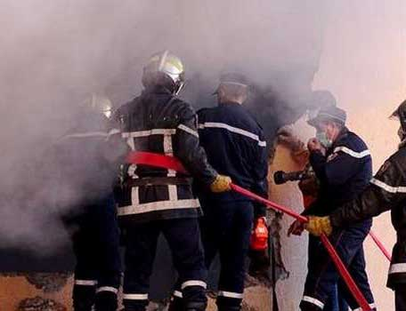 incendie au marché populaire de Ain Naadja