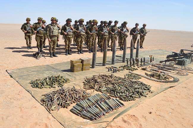 cache d'armes et de munitions