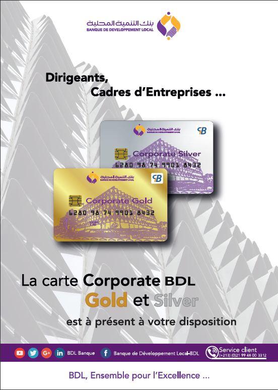 La BDL lance un nouveau produit pour les professionnels, la Carte « Corporate » | L'express DZ