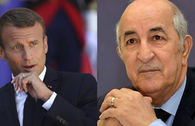 Le Président Tebboune reçoit un appel téléphonique d'Emmanuel Macron