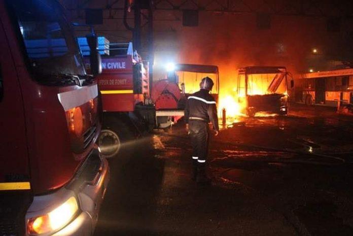 Alger: 95 bus ETUSA sauvés des flammes
