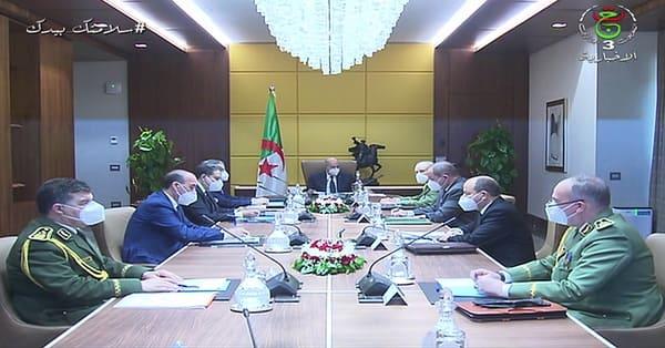 Tebboune preside une réunion du haut conseil de sécurité