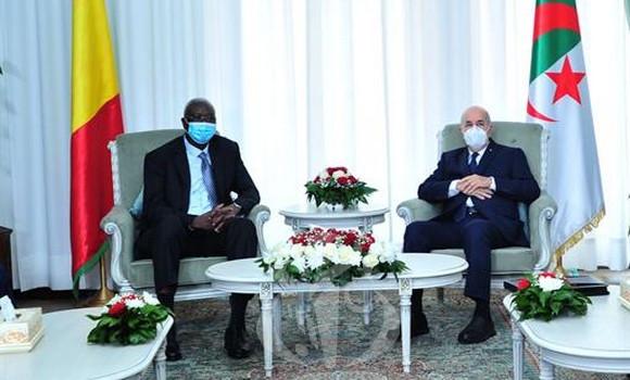 Le Président Tebboune reçoit le chef de l'Etat malien Bah N'Daw