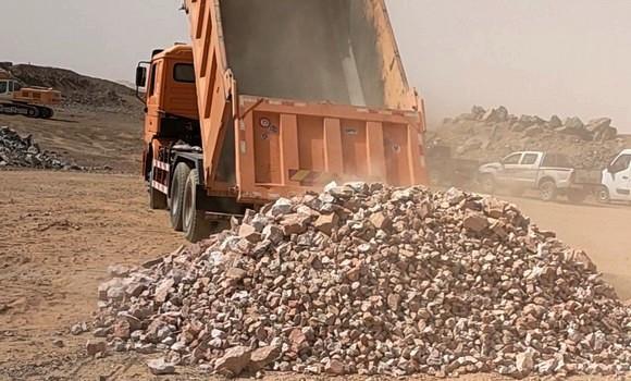 Mine d'Amesmessa: réception des 1es quantités de minerais d'or